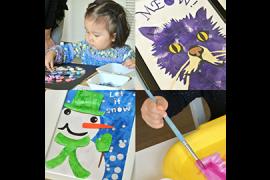 飾れる作品を造ろう!Babyアート  (1)