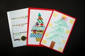 光るクリスマスカード